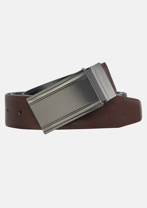 Black Chocolate Eino Reversible Belt