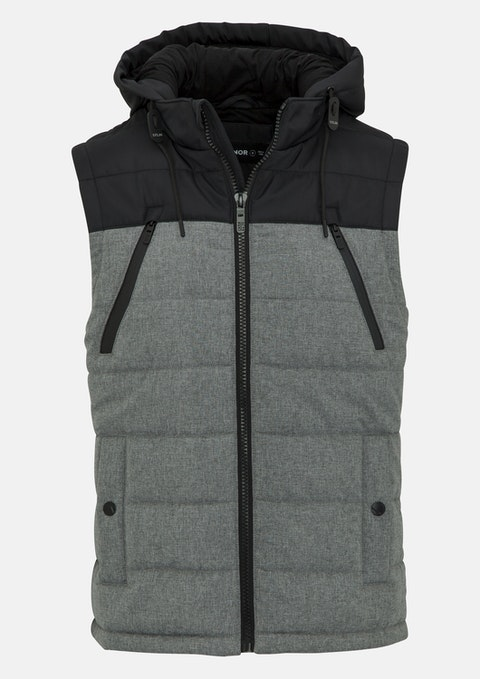 Grey Orion Puffer Vest