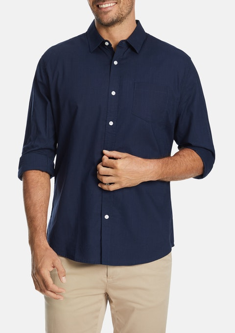 Navy Sniders Casual Shirt