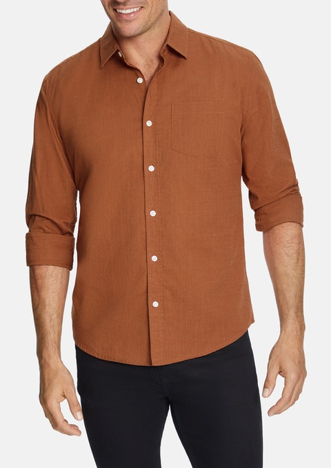Rust Sniders Casual Shirt
