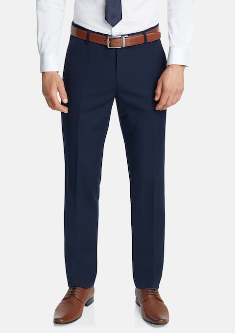 Navy Diamond Classic Stretch Dress Pant