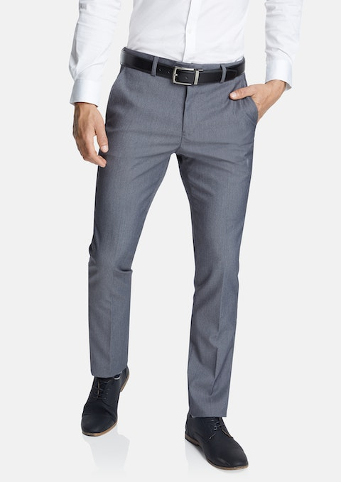Grey Diamond Slim Stretch Dress Pant