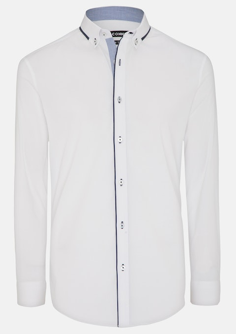 White Bligh Stretch Slim Dress Shirt
