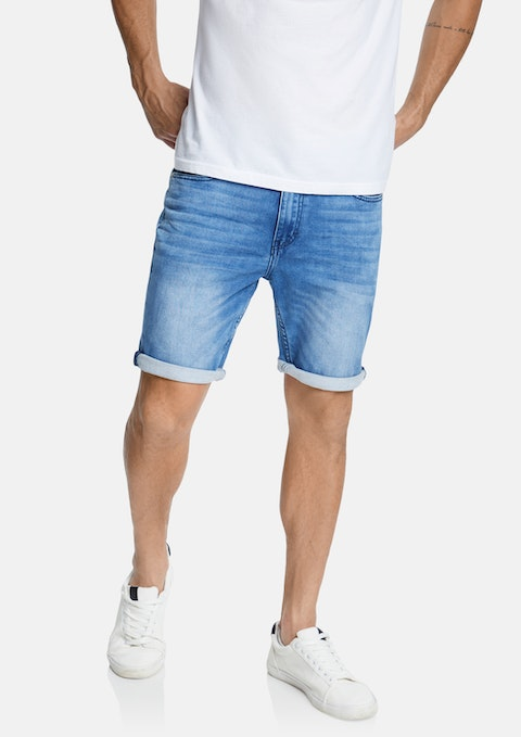 Blue Reed Denim Short