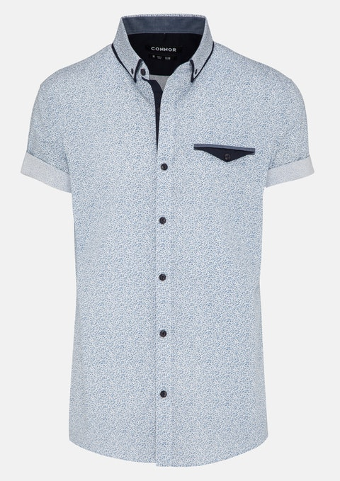 Light Blue Aran Print Shirt