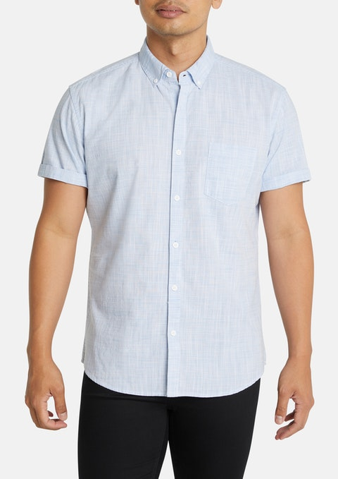 Light Blue Clancy Slim Shirt