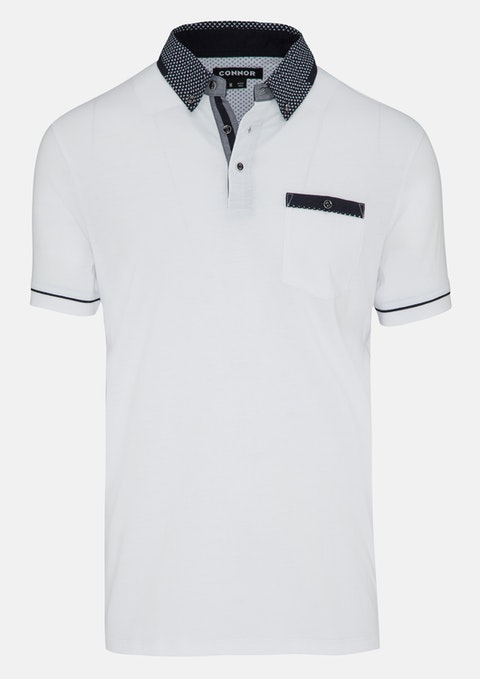 White Stoney Polo Top