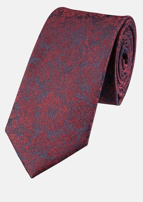 Wine Jacquard 6cm Tie