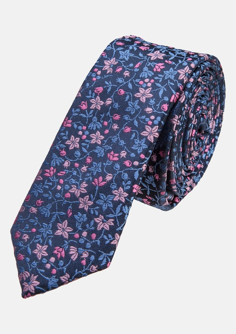 Pink Jacquard 5cm Tie