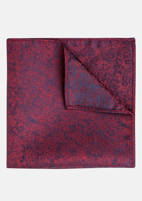 Wine Jacquard Pocket Square