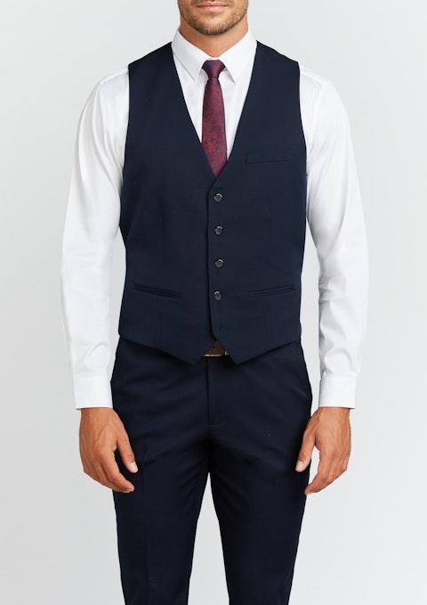 Navy Diamond Stretch Waistcoat