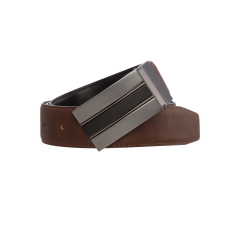 Black Chocolate Thomas Reversible Belt by Connor