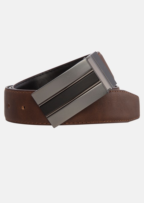 Black Chocolate Thomas Reversible Belt