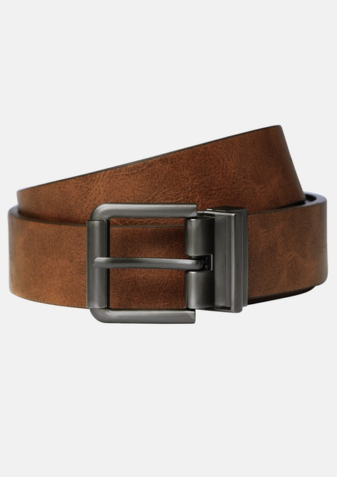 Black Tan Parnell Reversible Belt