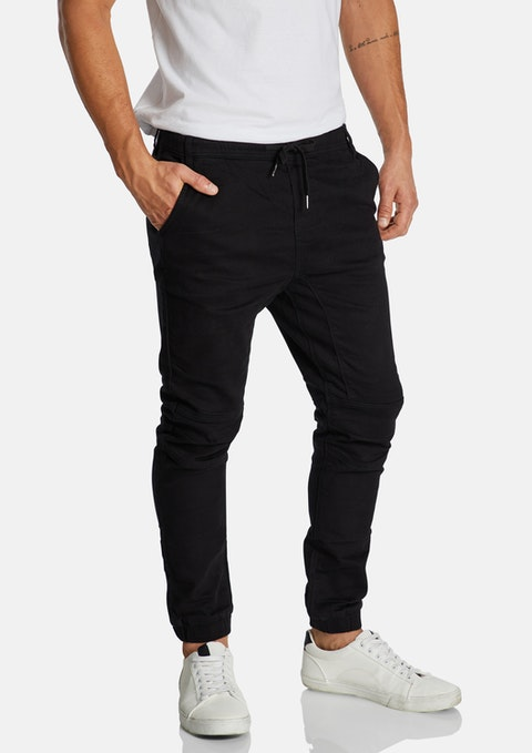 Black Colton Cuffed Chino