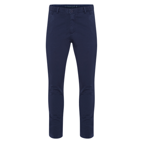 Cobalt Platinum Slim Stretch Chino by Connor