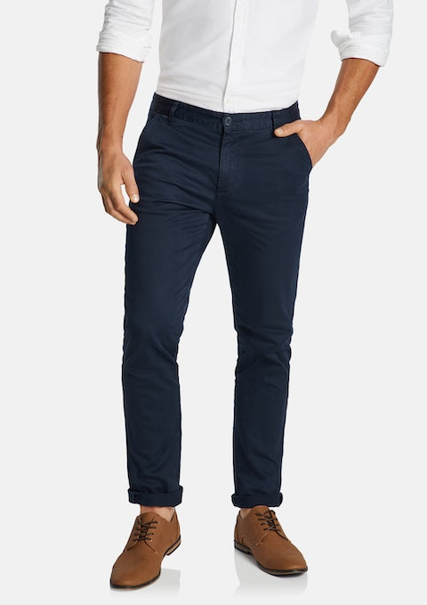 Indigo Platinum Slim Stretch Chino
