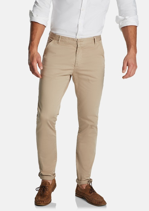Sand Platinum Slim Stretch Chino