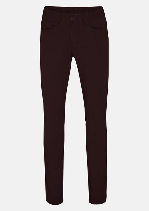 Burgundy Milton Stretch Slim Jean