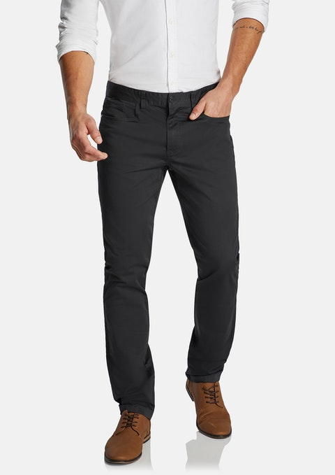 Charcoal Milton Stretch Slim Pant