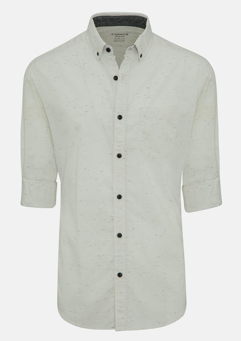 Oatmeal Barrett Slim Casual Shirt