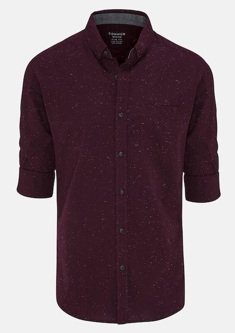 Wine Barrett Slim Casual Shirt