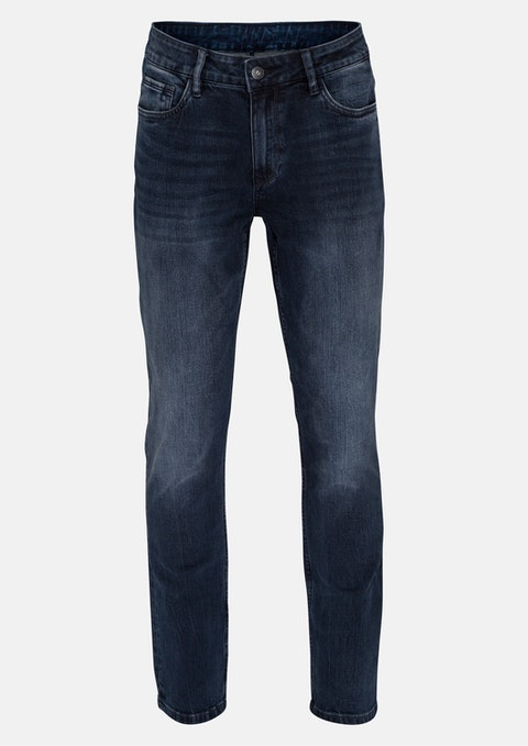 Dark Blue Brayson Tapered Jean