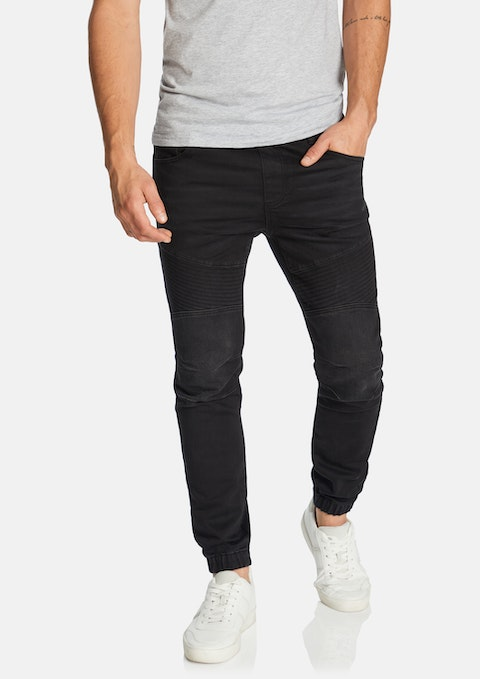Black Lynn Denim Jogger
