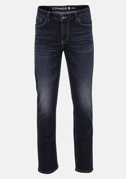 Dark Blue Alton Straight Jean