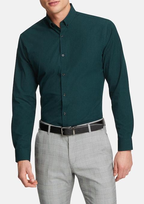 Green Jaxon Slim Dress Shirt