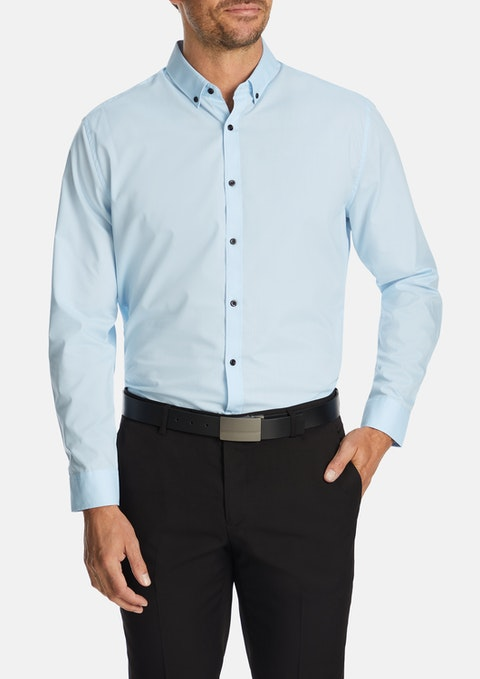Light Blue Jaxon Slim Dress Shirt