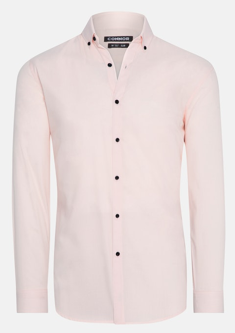 Peach Jaxon Slim Dress Shirt