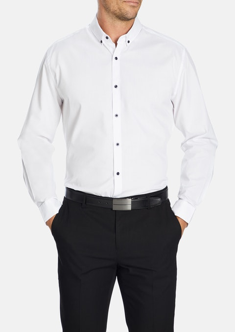 White Jaxon Slim Dress Shirt