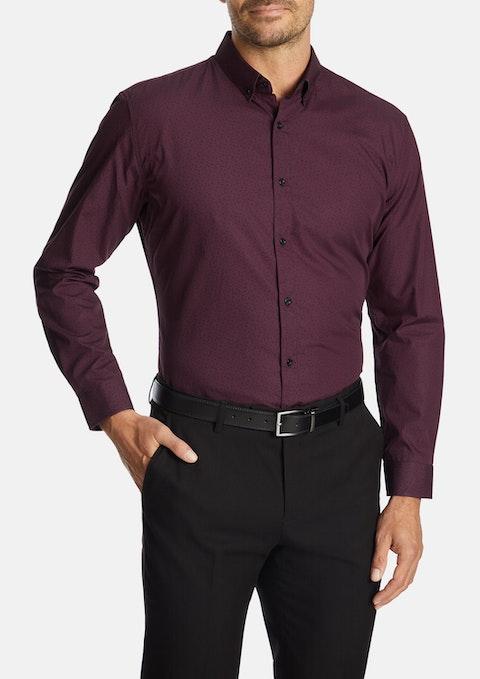 Wine Carson Slim Shirt