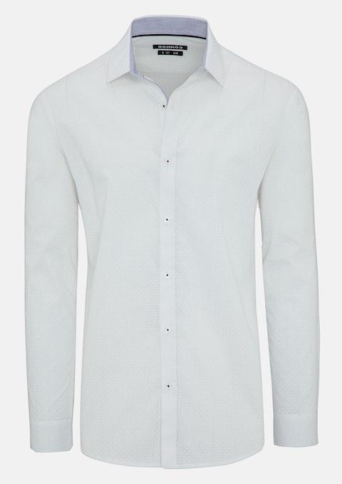 White Adrian Slim Shirt