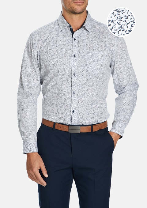 White Tristan Slim Shirt