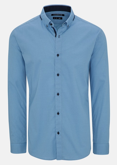 Blue Omar Slim Shirt