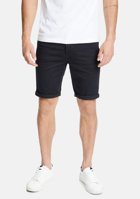 Black Rocco Denim Short