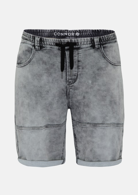 Grey Brock Denim Short