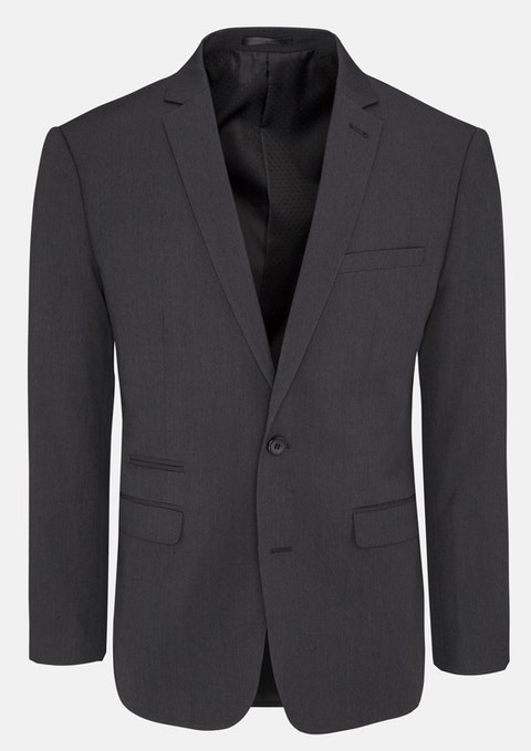 Smoke Diamond Stretch Slim Suit Jacket
