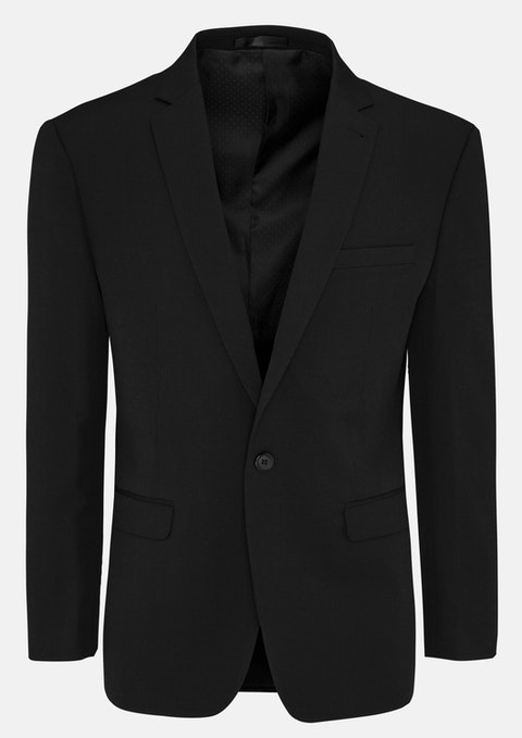 Black Diamond Stretch Slim Suit Jacket