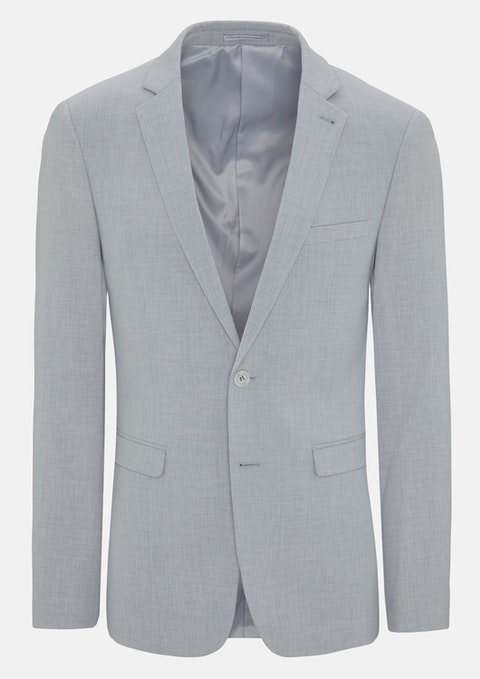 Silver Morgan Stretch Skinny Suit Jacket