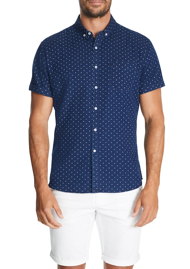 Connor Fairmont Print Slim Shirt