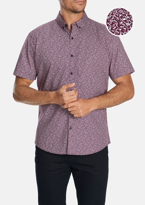 Grape Tate Print Shirt