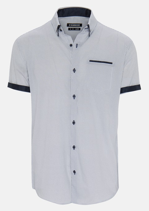 White Hank Print Shirt