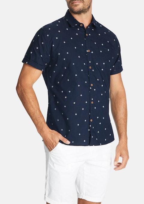Navy Barak Print Shirt