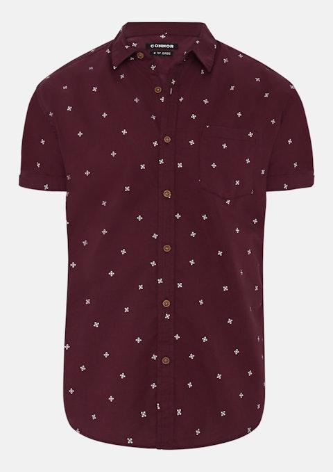 Wine Barak Print Shirt