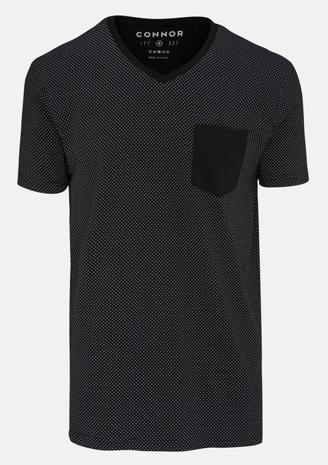 Black Roddy V-neck Tee