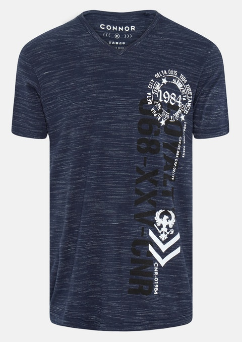 Navy Joshua V-neck Tee