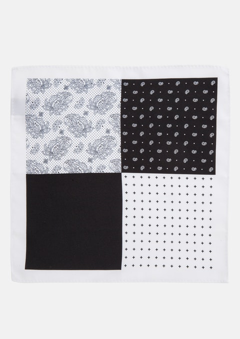 Black 4 Way Pocket Square